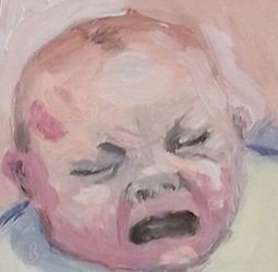 Portrait, Painting, Baby, Art,